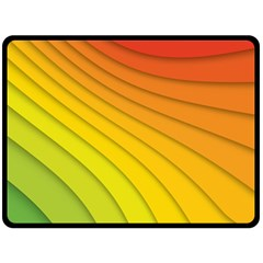 Abstract Pattern Lines Wave Double Sided Fleece Blanket (large)  by Nexatart