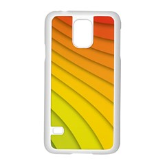 Abstract Pattern Lines Wave Samsung Galaxy S5 Case (white) by Nexatart
