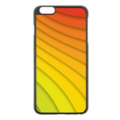 Abstract Pattern Lines Wave Apple Iphone 6 Plus/6s Plus Black Enamel Case by Nexatart