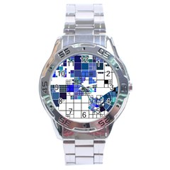 Design Stainless Steel Analogue Watch by Nexatart