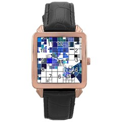 Design Rose Gold Leather Watch  by Nexatart