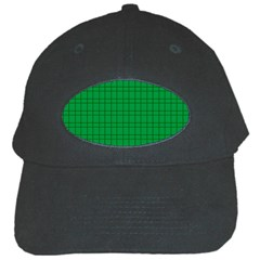 Pattern Green Background Lines Black Cap