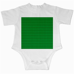 Pattern Green Background Lines Infant Creepers