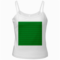 Pattern Green Background Lines White Spaghetti Tank