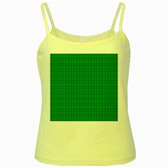 Pattern Green Background Lines Yellow Spaghetti Tank