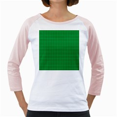 Pattern Green Background Lines Girly Raglans