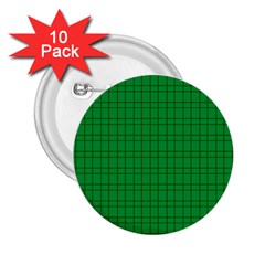 Pattern Green Background Lines 2 25  Buttons (10 Pack)  by Nexatart