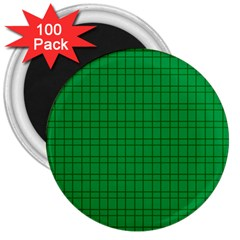 Pattern Green Background Lines 3  Magnets (100 pack)