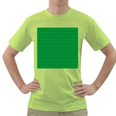 Pattern Green Background Lines Green T-Shirt