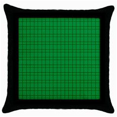 Pattern Green Background Lines Throw Pillow Case (Black)