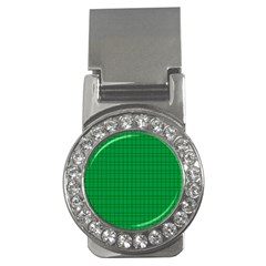 Pattern Green Background Lines Money Clips (CZ)