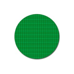 Pattern Green Background Lines Magnet 3  (Round)