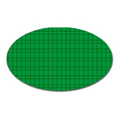Pattern Green Background Lines Oval Magnet