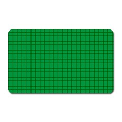 Pattern Green Background Lines Magnet (Rectangular)