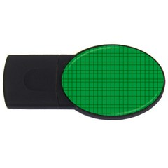 Pattern Green Background Lines USB Flash Drive Oval (2 GB)