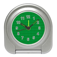 Pattern Green Background Lines Travel Alarm Clocks