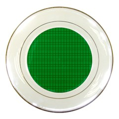 Pattern Green Background Lines Porcelain Plates by Nexatart