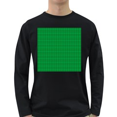 Pattern Green Background Lines Long Sleeve Dark T-Shirts