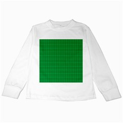 Pattern Green Background Lines Kids Long Sleeve T-Shirts