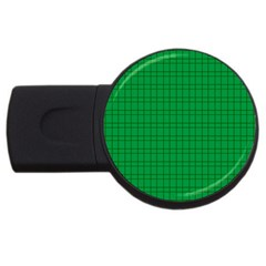 Pattern Green Background Lines USB Flash Drive Round (4 GB)