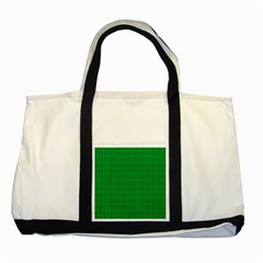 Pattern Green Background Lines Two Tone Tote Bag