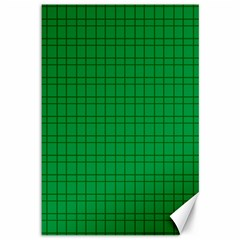 Pattern Green Background Lines Canvas 12  x 18