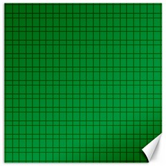 Pattern Green Background Lines Canvas 16  x 16