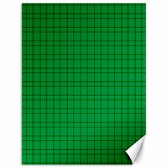 Pattern Green Background Lines Canvas 18  x 24