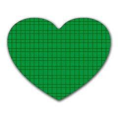 Pattern Green Background Lines Heart Mousepads