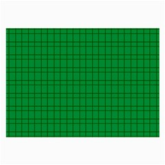 Pattern Green Background Lines Large Glasses Cloth (2-Side)