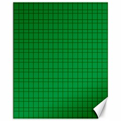 Pattern Green Background Lines Canvas 11  x 14