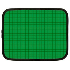 Pattern Green Background Lines Netbook Case (large) by Nexatart