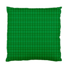 Pattern Green Background Lines Standard Cushion Case (Two Sides)