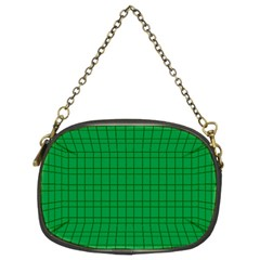Pattern Green Background Lines Chain Purses (Two Sides)