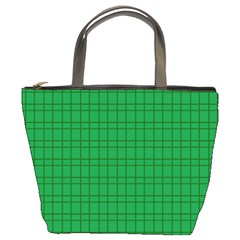 Pattern Green Background Lines Bucket Bags
