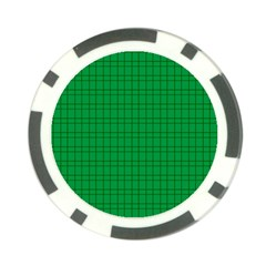 Pattern Green Background Lines Poker Chip Card Guard (10 pack)