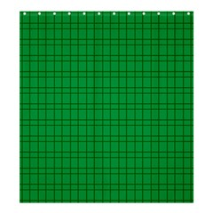 Pattern Green Background Lines Shower Curtain 66  x 72  (Large)