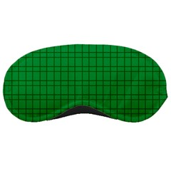 Pattern Green Background Lines Sleeping Masks