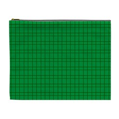 Pattern Green Background Lines Cosmetic Bag (XL)