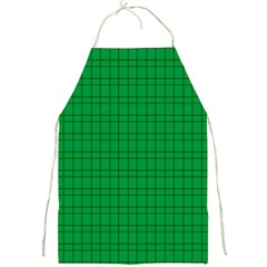 Pattern Green Background Lines Full Print Aprons