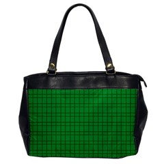 Pattern Green Background Lines Office Handbags by Nexatart