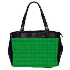 Pattern Green Background Lines Office Handbags (2 Sides)