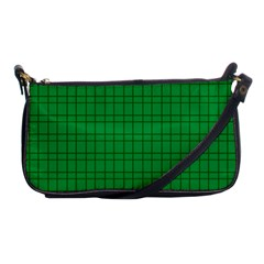 Pattern Green Background Lines Shoulder Clutch Bags