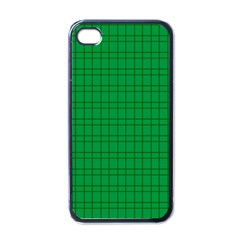 Pattern Green Background Lines Apple iPhone 4 Case (Black)