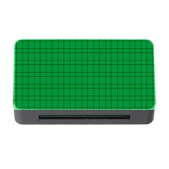 Pattern Green Background Lines Memory Card Reader with CF