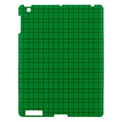 Pattern Green Background Lines Apple iPad 3/4 Hardshell Case