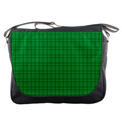 Pattern Green Background Lines Messenger Bags
