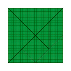 Pattern Green Background Lines Acrylic Tangram Puzzle (6  x 6 )