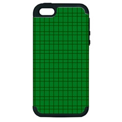 Pattern Green Background Lines Apple iPhone 5 Hardshell Case (PC+Silicone)