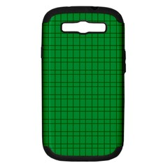 Pattern Green Background Lines Samsung Galaxy S III Hardshell Case (PC+Silicone)